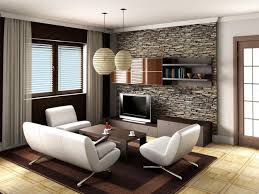living room lounge decorating ideas feature ivory wall rectangular