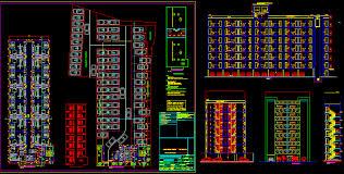 2 bhk flat design plans designer world auto cad apartment design dwg parking area eleva