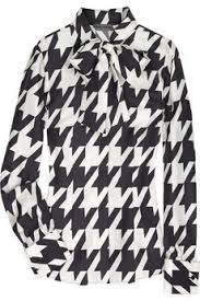 houndstooth blouse mcqueen houndstooth bow blouse who wear