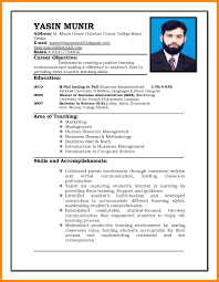 Sample Resume For University Application by 7 Format Of Cv For Job Application Manager Resume