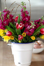 Spring Flower Bouquets - make grocery store flower bouquets hgtv