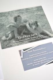 Creative Save The Dates Childhood Photo Magnetic Save The Dates 60th Birthday Party