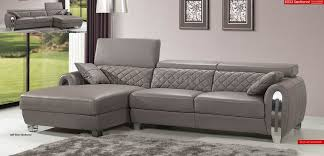 Modern Italian Leather Sofa Light Grey Italian Leather Modern Sectional Sofa