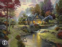 Thomas Kinkade Clocktower Cottage by 108 Best Pittura Thomas Kinkade Images On Pinterest Thomas
