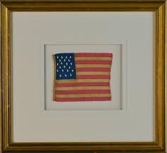 Star Flags 21 Star Flag Hand Sewn Silk Sku 11085 Historical Americana