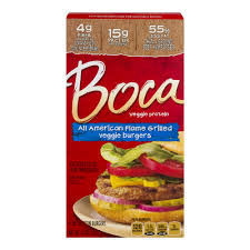 boca veggie protein burgers all american flame grilled 4 ct