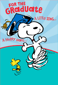 snoopy happy dance pop graduation card greeting cards hallmark