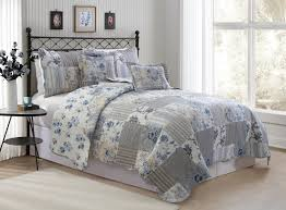 Overstock Com Bedding Amazon Com Avondale Manor Alana 5 Piece Quilt Set Queen Blue