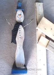 wooden snowman 2 x 4 snowman diy scavenger chic