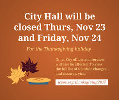 city of iowa city issues 2017 thanksgiving schedule city
