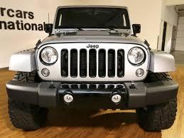 jeep wrangler 4 door silver 2015 jeep wrangler unlimited altitude sport utility 4 door