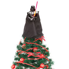 wars darth vader tree topper with led light saber at what on