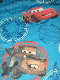 cars 2 movie twin single flat bed sheet pillow case lightning