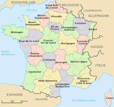 France Regions Map by
