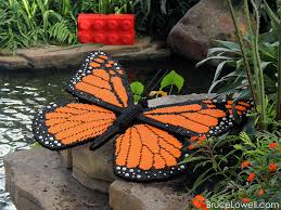 lego monarch butterfly this sculpture was one of three com flickr