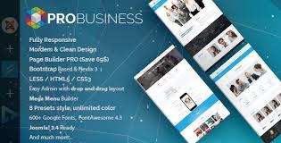 probusiness multi purpose joomla template probusiness is a
