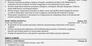 phlebotomy resume sample no experience phlebotomy resume sample