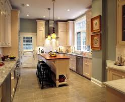 kitchen the functional solutions for long narrow kitchen cream