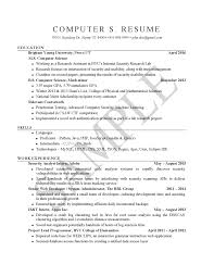 Html Resume Examples Sample Resumes University Career Services