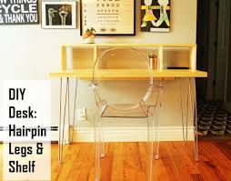 Hairpin Legs Los Angeles by How To Build A Contemporary Desk With Shelf And Hairpin Legs The