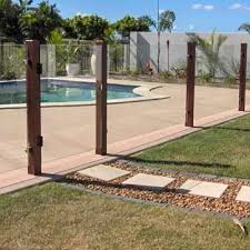 Glass Patio Fencing Cool Way To Make A Modern Glass Pool Fence Less Modern You Could
