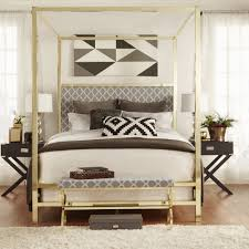 Gold Canopy Bed Inspire Q Solivita Sized Canopy Gold Metal Poster Bed Free
