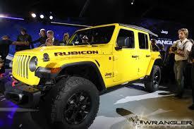 jeep rubicon yellow la auto show hella yella jlu wrangler rubicon photos 2018 jeep