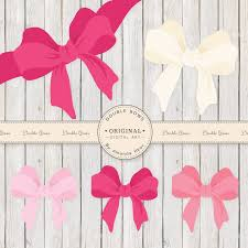 large gift bows large pink vector bows clipart bow clip gift bow