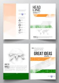 ind annual report template set of business templates for brochure magazine flyer booklet