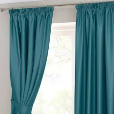 homescapes teal petrol pencil pleat blackout thermal curtain pair