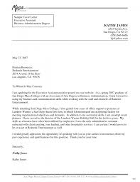 cover letter template administrative assistant sample