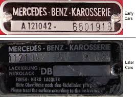 190sl group timeline vehicle identification numbers