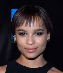 ultra short bob hair zoe kravitz s ultra short bob with wispy bangs casual party