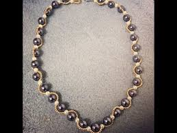 beaded pearl necklace images Beaded pearl necklace diy jpg
