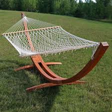 Free Standing Hammock Walmart by Sunnydaze Solid Wood Curved Arc Hammock Stand With Hooks And