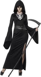Halloween Reaper Costume Ladies Grim Reaper Costume Halloween Fancy Dress Death