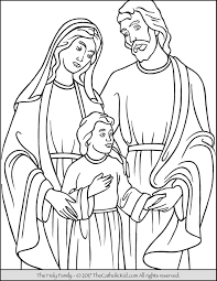 Holy Family Coloring Page holy family coloring page thecatholickid