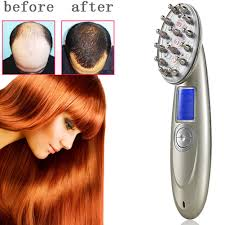 usb rechargeable charging laser comb vibrating scalp massage hair