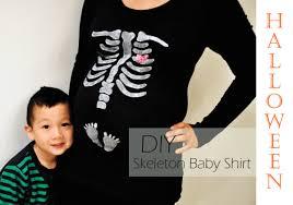 diy halloween skeleton baby maternity shirt
