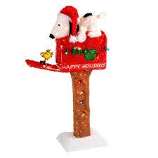 happy holidays u201d lighted snoopy mailbox christmas tree shops