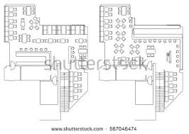 architecture plans architecture plan furniture house floor plan stock vector