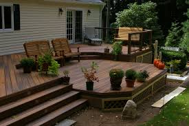 fiberon two level deck fairfield county decking and deck skirting