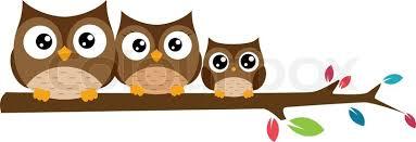 owl family on the branch christmas banner stock vector colourbox