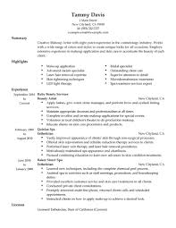 Esthetician Sample Resume by Freelance Makeup Artist Resume Berathen Com