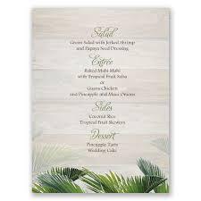 Diy Wedding Menu Cards Palm Tree Paradise Menu Card Invitations By Dawn