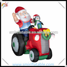 Commercial Christmas Yard Decorations by Commercial Christmas Inflatable Santa In Tractor Inflatable Camper