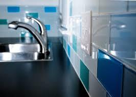 Blue Glass Tile Bathroom - bathroom glass tile architecture building drawing home design