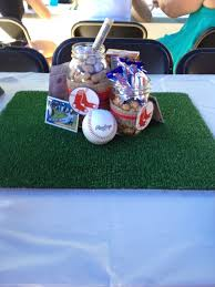 baseball centerpieces baseball themed baby shower centerpieces