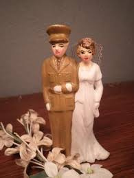 ginger babies custom wedding cake toppers military couple