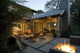 Outdoor Metal Fireplaces - modern farmhouse design ideas patio transitional with concrete